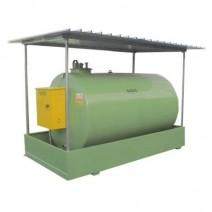 Rezervor statie combustibil 5000 litri pentru motorina + pompa autoamorsanta Piusi